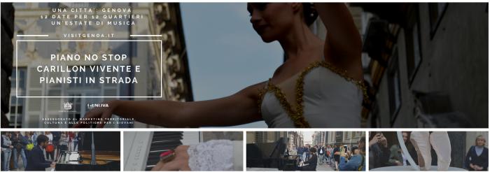 """""""Piano No Stop 2018"""": 12 appuntamenti negli angoli più belli di Genova tra concerti di pianoforte e spettacoli itineranti"""